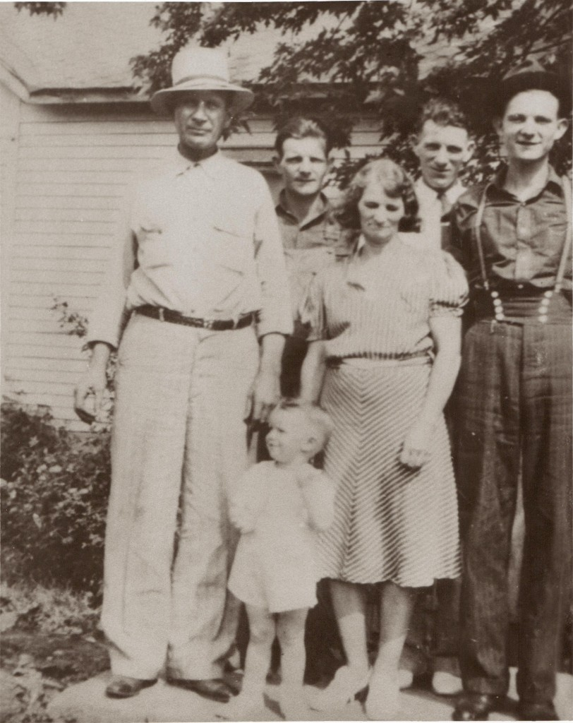 Charles Vaughan with family 1940